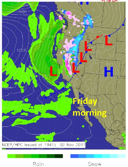 Friday cold front