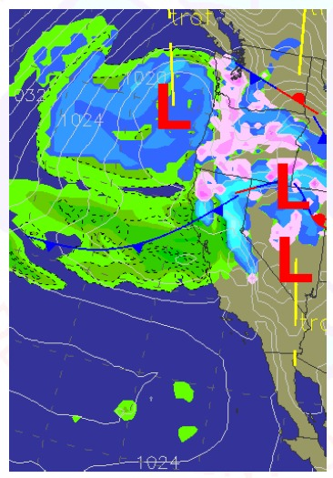 Weather pattern on Thursday, February 24th, 2011