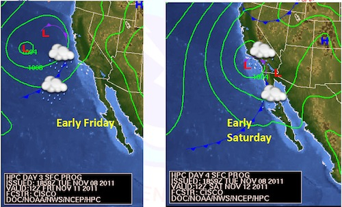 Friday and Saturday storm front