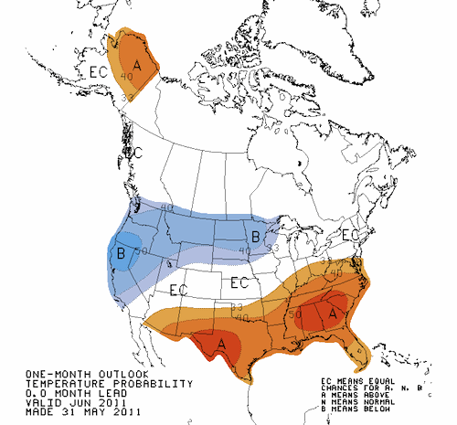 Temperature Outlook June 2011